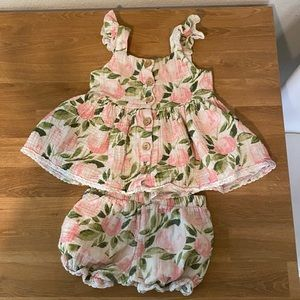 SweetHoney 2 piece play set bloomers buttons top